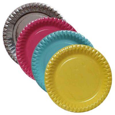 Piatti di carta in cartoncino per feste Ø18 cm colori a scelta