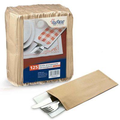 Buste sacchetti portaposate in carta paglia avorio