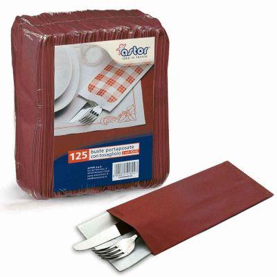 Buste sacchetti portaposate in carta paglia rosso bordeaux
