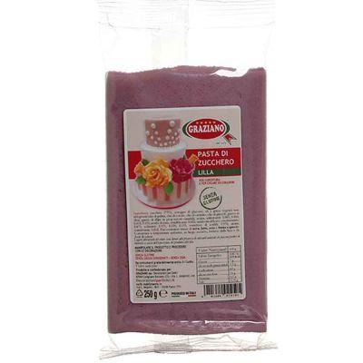 Pasta di zucchero lilla per copertura 250 g Graziano