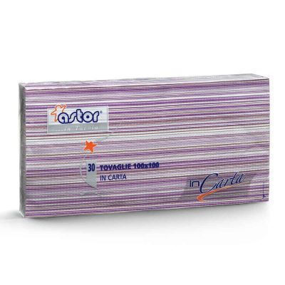 30 Tovaglie di carta 100x100 cm millerighe lilla 255-6ML