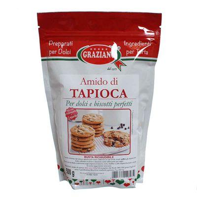 Amido di Tapioca addensante per dolci e biscotti 500 g Graziano