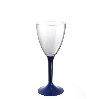 20 Calici vino lavabili blu perlato 180cc
