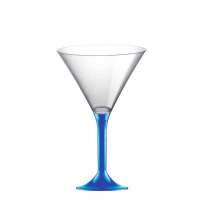 20 Coppe aperitivo Martini riutilizzabili in plastica blu 185ml