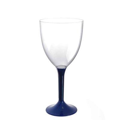 20 Calici vino lavabili blu perlato 300cc