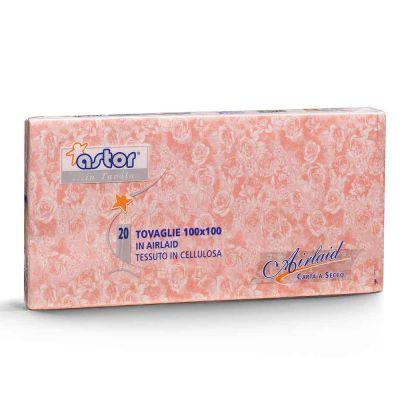 Tovaglie Astor in carta a secco airlaid 100x100 rose rosa