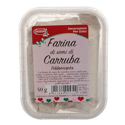 Farina di semi di Carrube per dolci e gelati 50 g Graziano