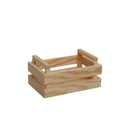 Mini Cassetta in legno naturale piccola 13,6x8,5x6,6h