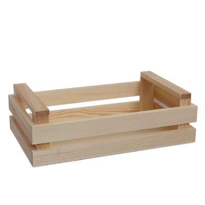 Mini Cassetta in legno naturale media 24x14,3x7,3h