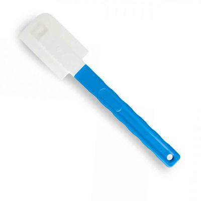 Spatola in gomma morbida flessibile con manico blu