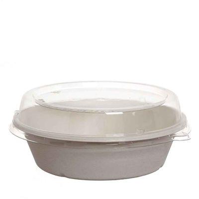 40 Ciotole compostabili con coperchio 900 ml