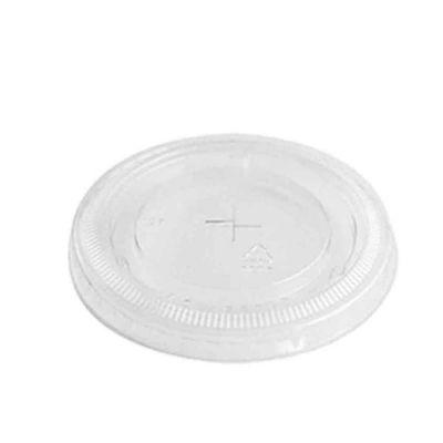 50 Coperchi piatti trasparenti con foro Ø9,5 h0,8cm
