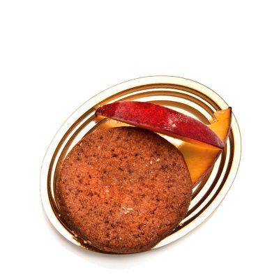 Vassoi finger food monoporzione Mignon oro ovale con pasticcino