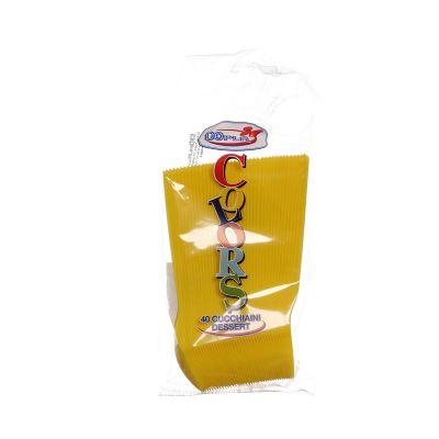 Cucchiaini di plastica colorati da dessert DOpla giallo