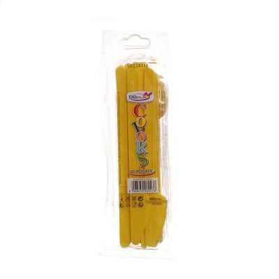 Coltelli colorati di plastica DOpla Colors giallo