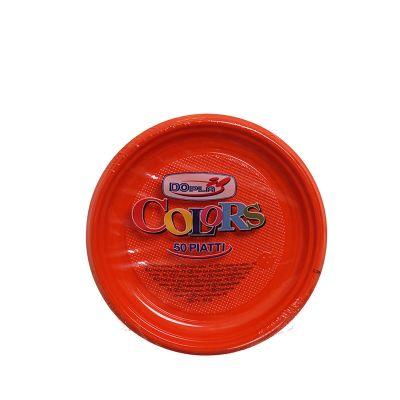 Piatti di plastica colorati per feste DOpla Ø17 arancione