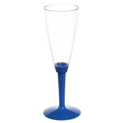 Flutes calici Poloplast gambo lungo blu