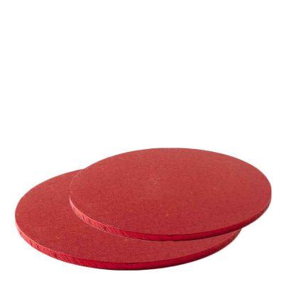 Cakeboard vassoio Sottotorta rotondo rosso rivestito h 1,2 cm