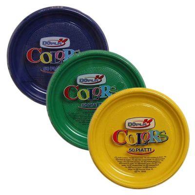 Piatti di plastica colorati DOpla Colors Ø 17 cm in 20 colori tinta unita