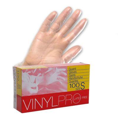 Guanti in vinile monouso VinylPro latex free bianco trasparente
