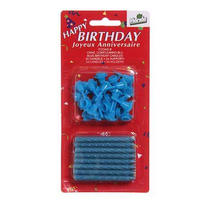 Candeline compleanno blu - confezione