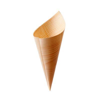Coni finger food di legno in foglia di pino 17 x Ø 6 cm