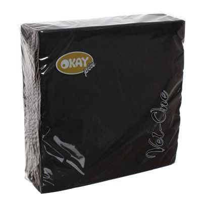 60 Tovaglioli in carta ovatta colorati Velone Okay 40x40 cm neri