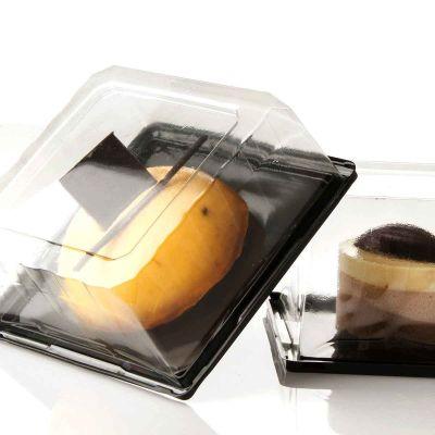Contenitori quadrati per dolci con coperchio trasparente Picasso