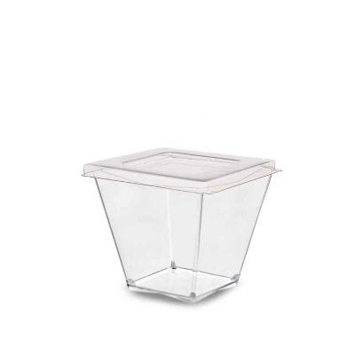 Bicchierini monoporzione Diamante 60cc con coperchio