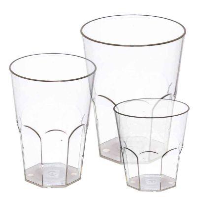 Bicchieri per cocktail lavabili in policarbonato