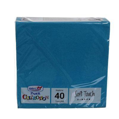 Tovaglioli di carta tessuto non tessuto TNT 38x38 turchese