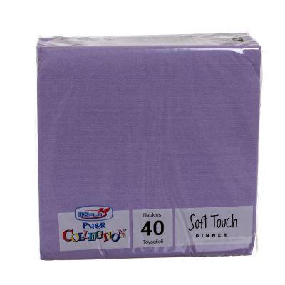 Tovaglioli di carta tessuto non tessuto TNT 38x38 lilla