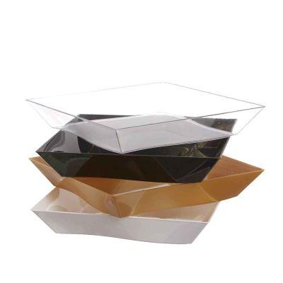 25 Piatti di plastica rigida eleganti design Vanity 500cc 16x16 cm