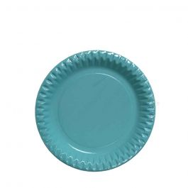 piatti di plastica rigida trasparenti celesti